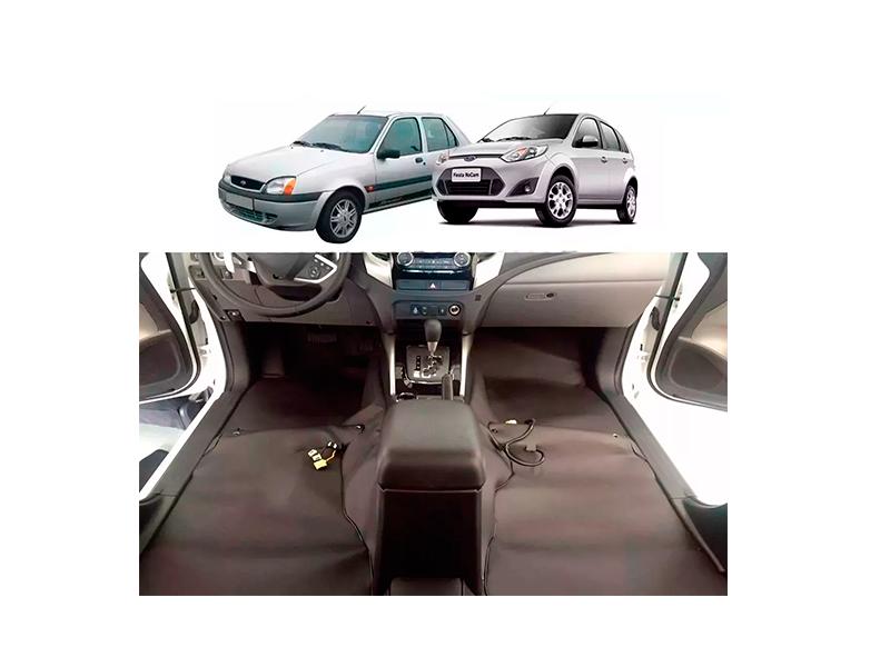 Forro Super Luxo Automotivo Assoalho Para Fiesta até 2014