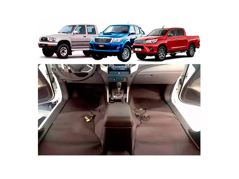 Forro Super Luxo Automotivo Assoalho Para Hilux Dupla Todas