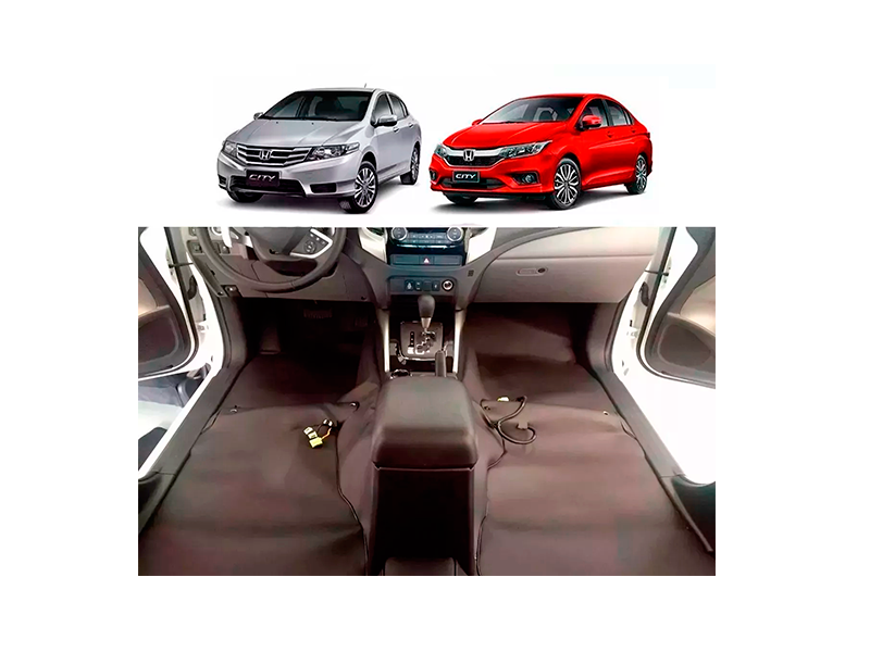 Forro Super Luxo Automotivo Assoalho Para Honda City 2009 a 2018