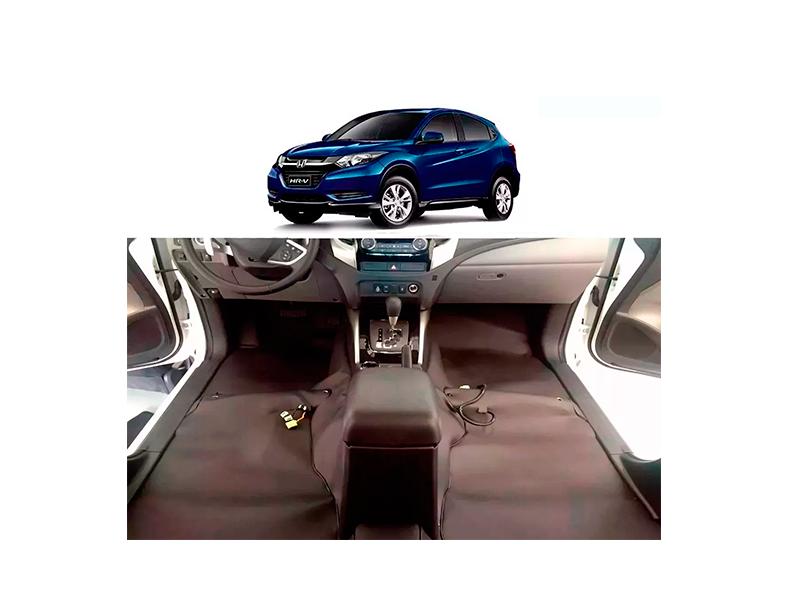 Forro Super Luxo Automotivo Assoalho Para Honda Hrv 2015 a 2018