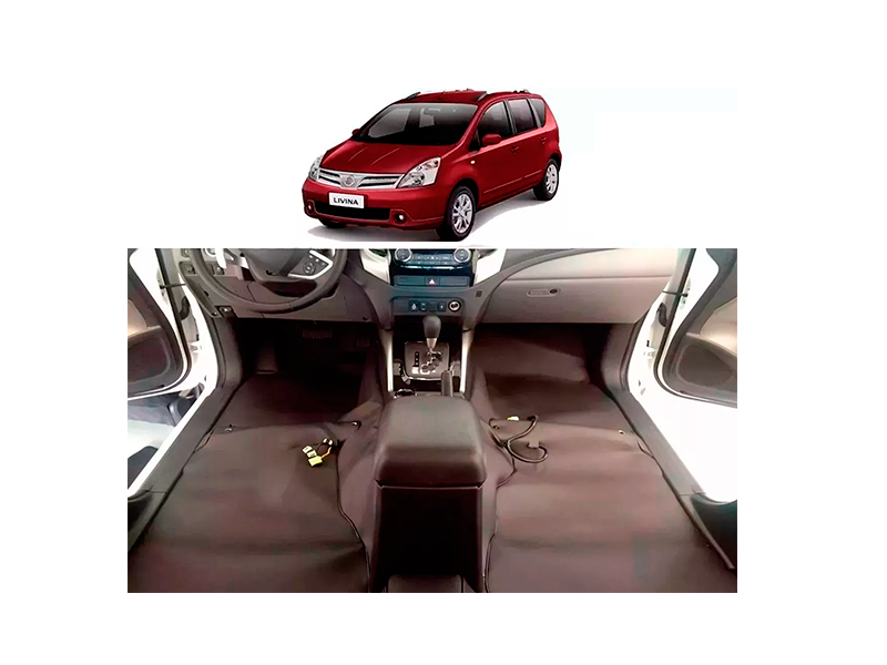Forro Super Luxo Automotivo Assoalho Para Livina 2010 a 2015 5 e 7 lugares