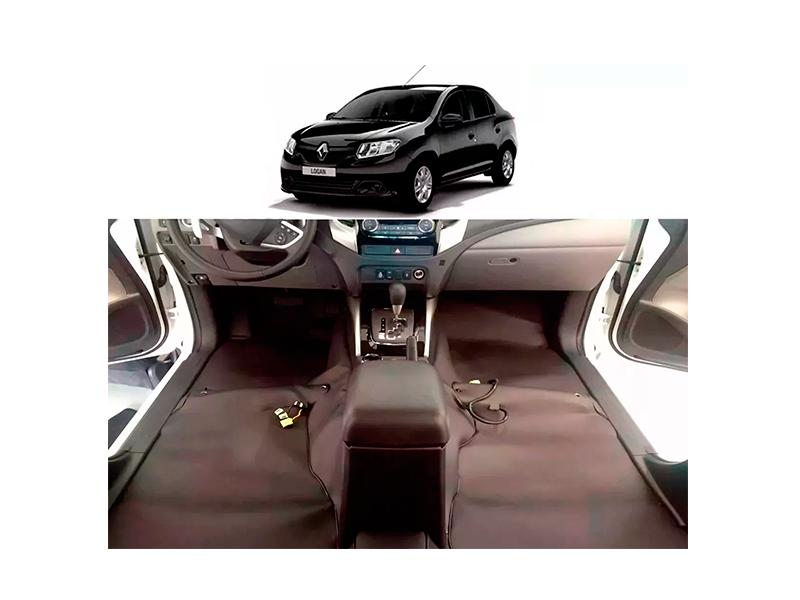 Forro Super Luxo Automotivo Assoalho Para Logan 2013 a 2018