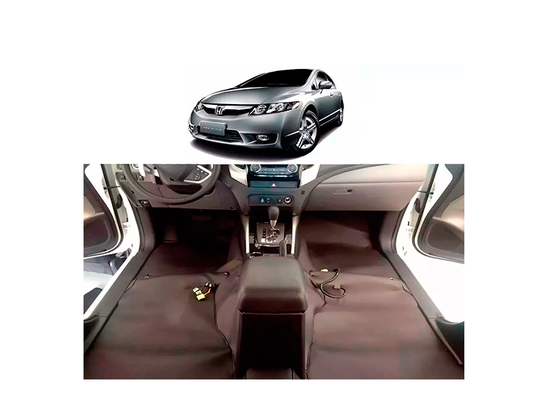 Forro Super Luxo Automotivo Assoalho Para New Civic 2007 a 2012