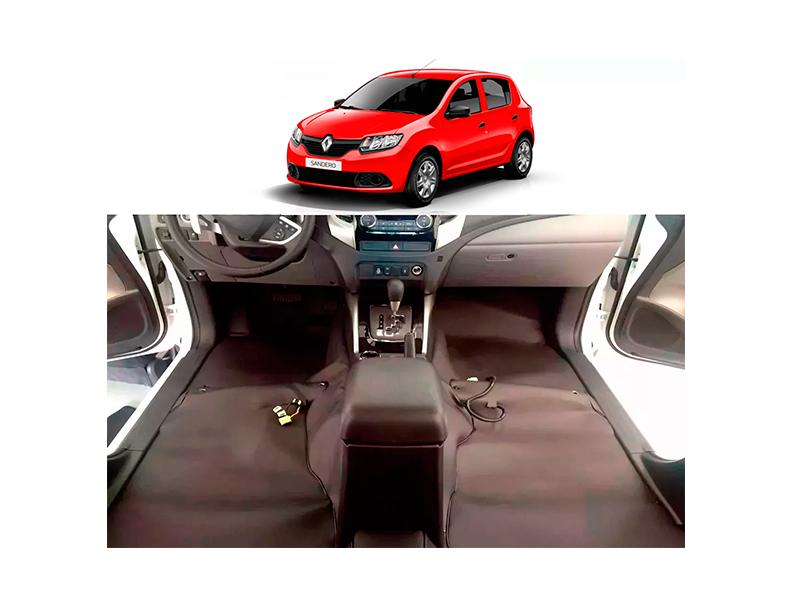 Forro Super Luxo Automotivo Assoalho Para Sandero 2013 a 2018