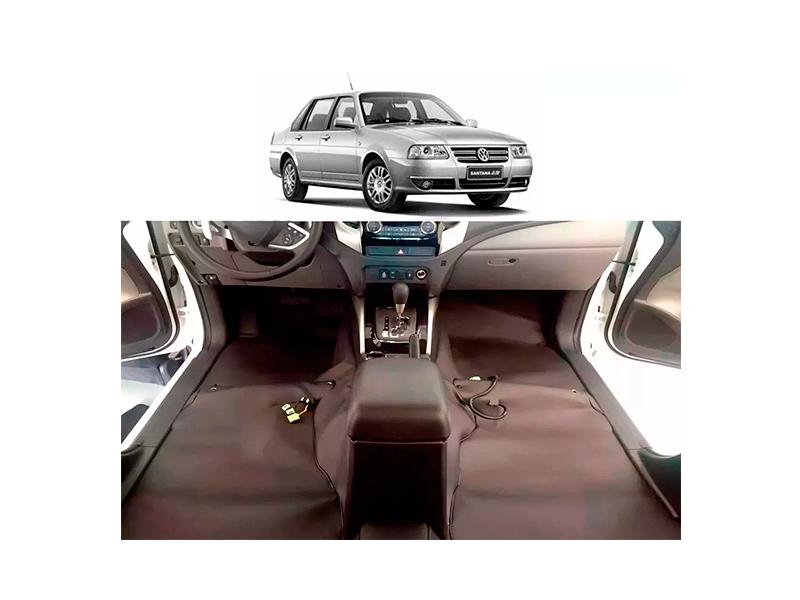 Forro Super Luxo Automotivo Assoalho Para Santana 99 a 2005