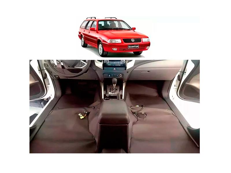 Forro Super Luxo Automotivo Assoalho Para Santana Quantum