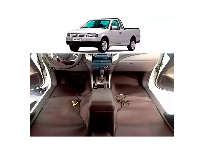 Forro Super Luxo Automotivo Assoalho Para Saveiro G4 Surf