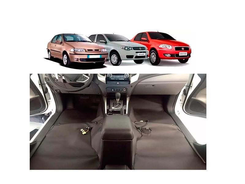 Forro Super Luxo Automotivo Assoalho Para Siena Todos