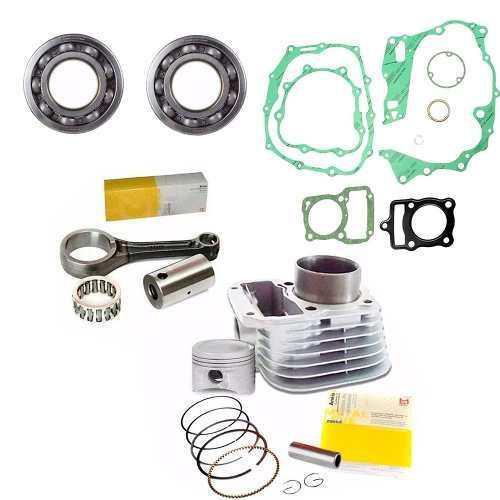Kit Cilindro Biela Juntas Motor Cg Fan Titan 125 99 00 01 - Metal Leve