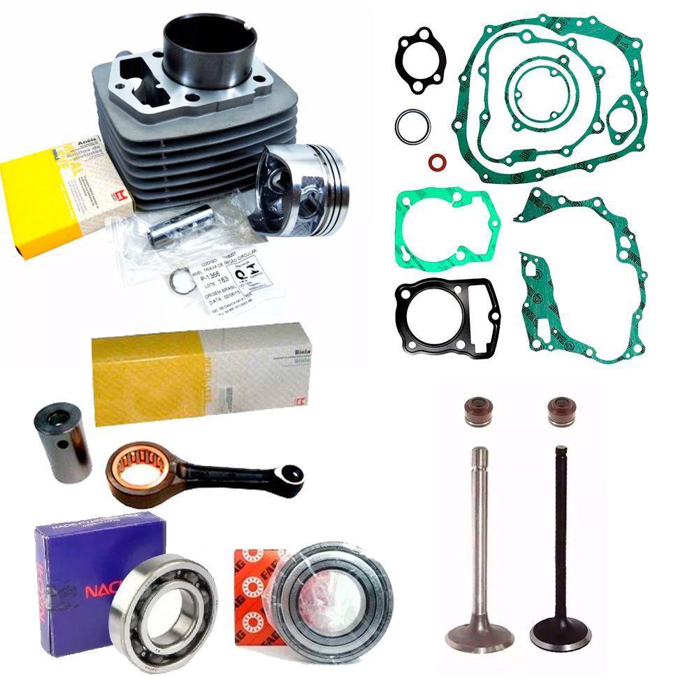 Kit Cilindro HONDA Strada CBX 200 NX 200 XR 200 Rolamentos Biela - Metal Leve