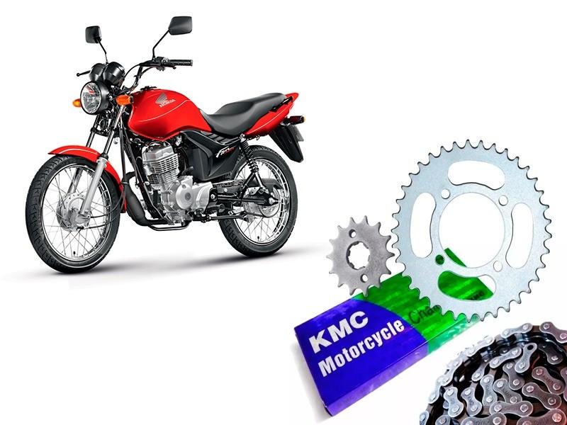 Kit Relação Competição Fan 125 2009 até 2017 Reduzida Coroa 38 Pinhao 16