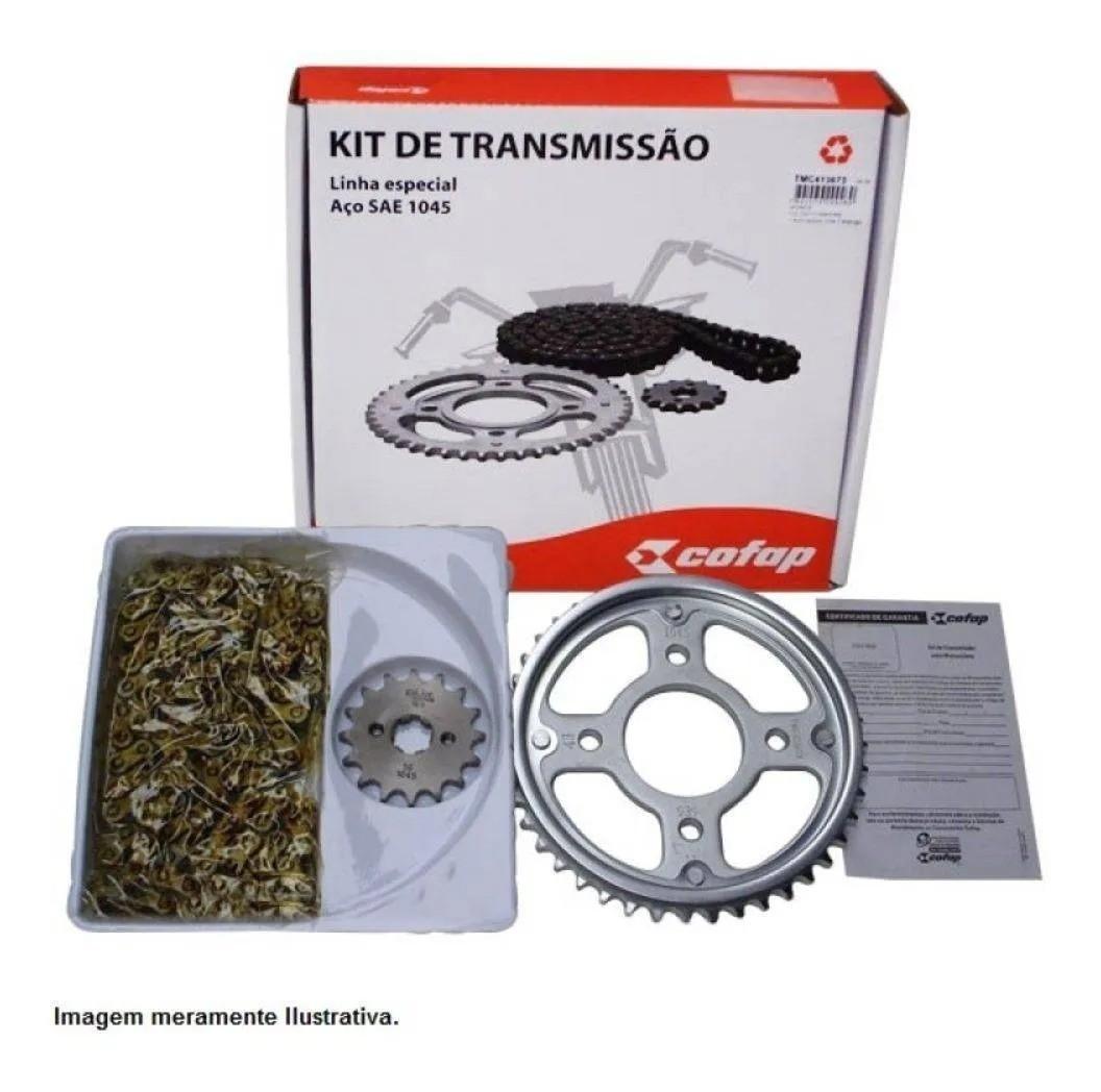 Kit Transmissão Relação Original Cofap Yamaha Fazer 250 até 2017