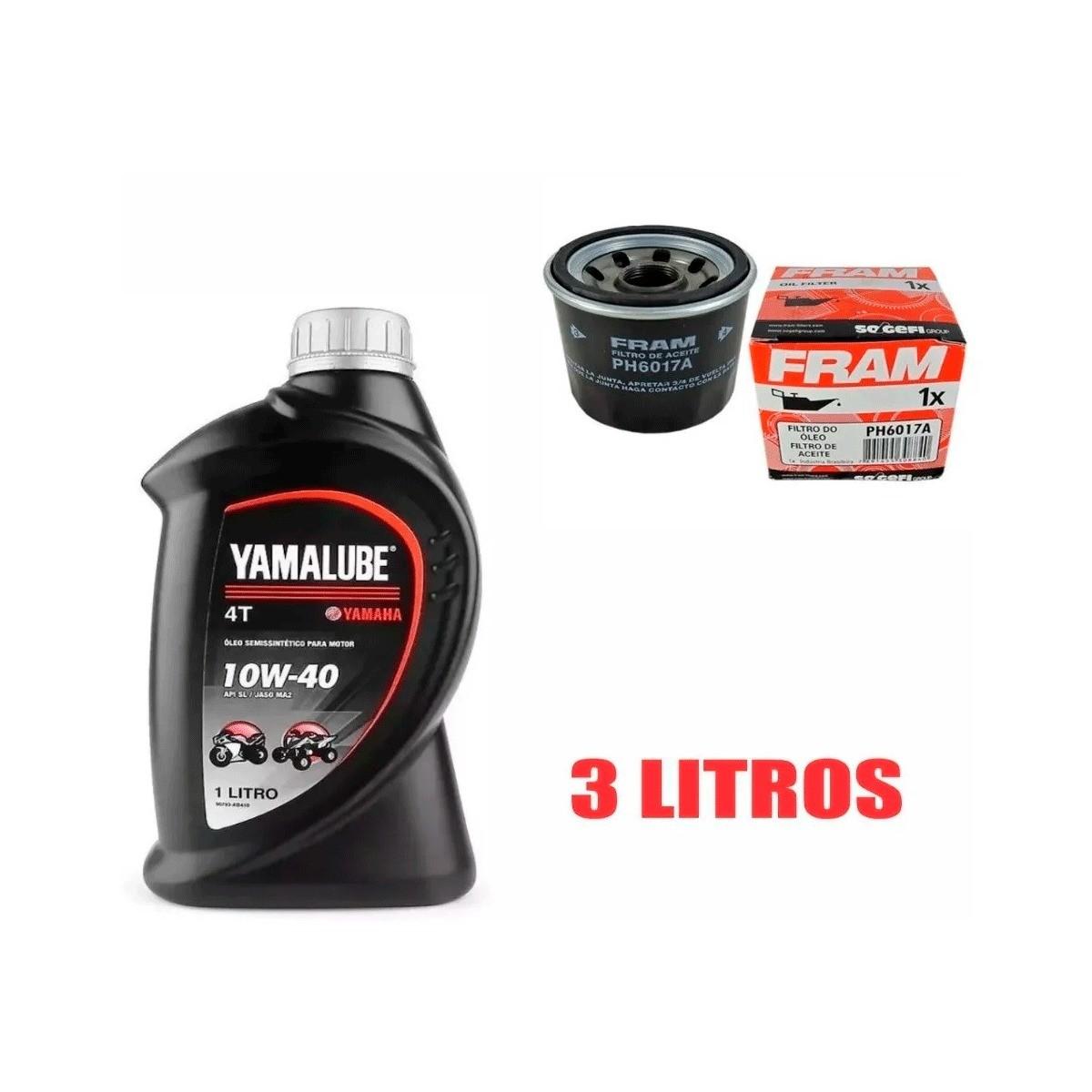 Kit Troca Oleo E Filtro Yamaha Xj6 Yamalube 10w40