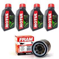 KIT TROCA OLEO + FILTRO FRAM HORNET 600 CBR 600F MOTUL 5100 15W50