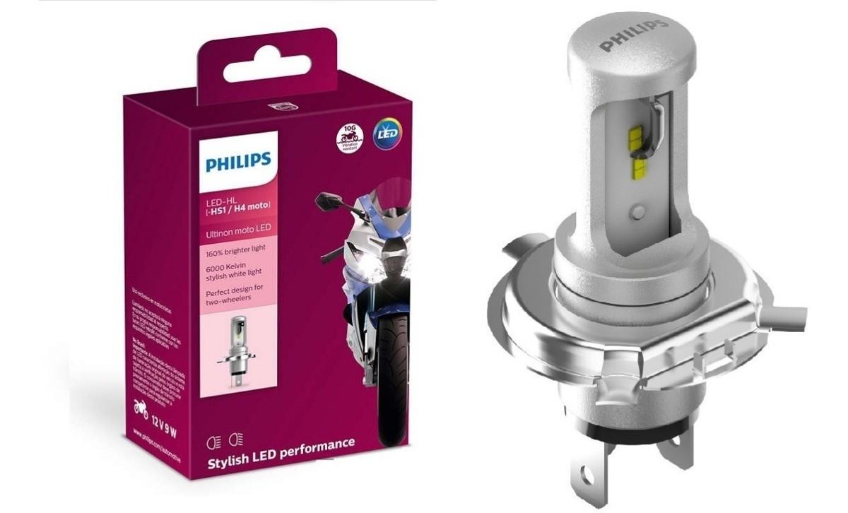 Lâmpada Led Original Philips Ultinon Moto Farol 6000k H4 9w