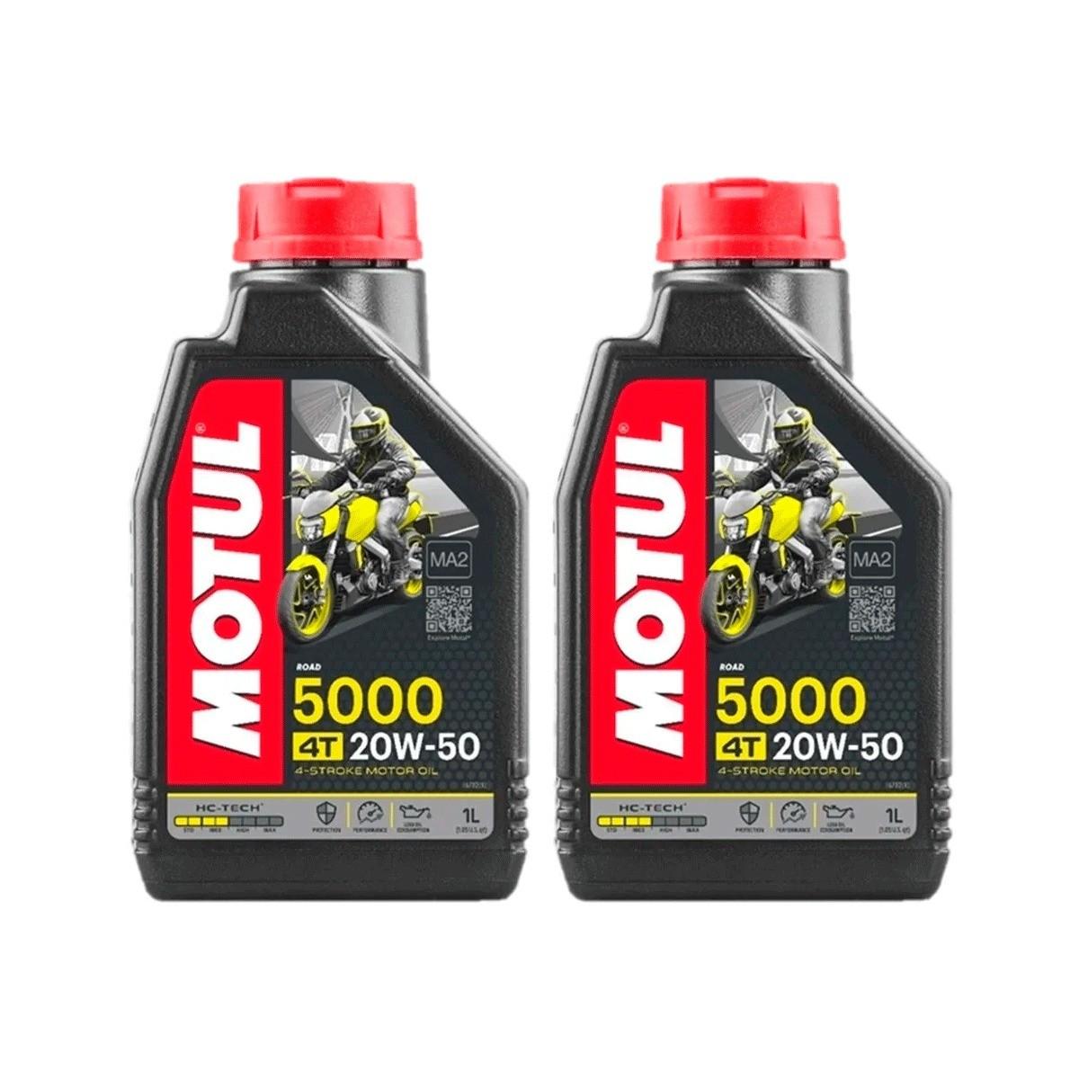 Óleo Motul 5000 4t 20w-50 Hc-tech Semissintético 2 Litros