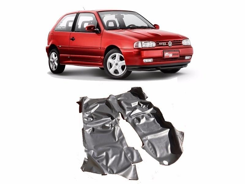 Tapete Auto para Assoalho em Verniz Liso Volkswagen Gol Bola 2 Portas Preto