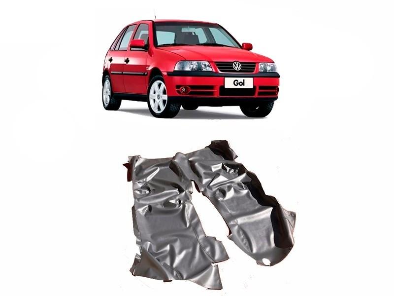 Tapete Auto para Assoalho em Verniz Liso Volkswagen  Gol G2 G3 G4 4 Portas Grafite