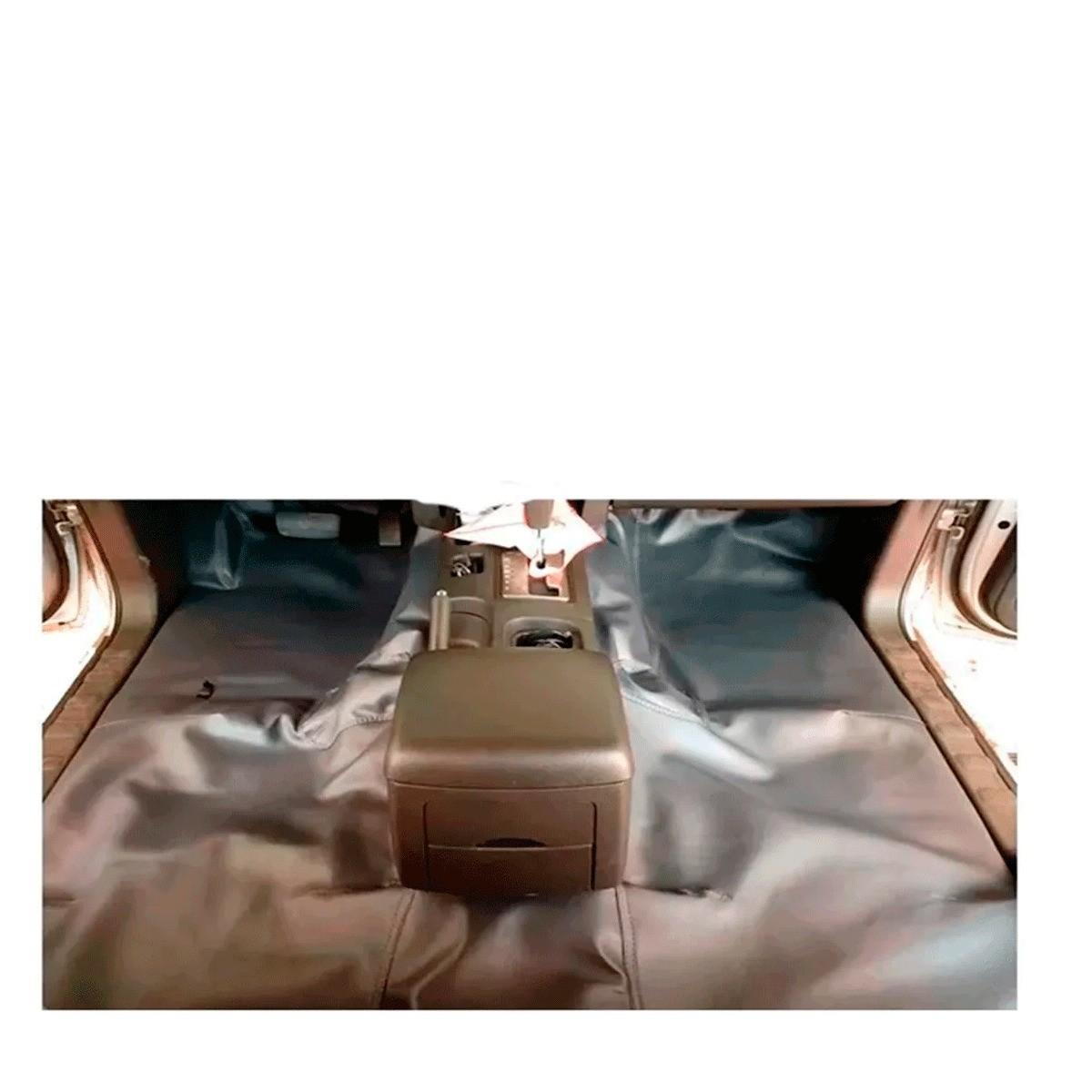 Tapete Automotivo Assoalho Emborrachado Bidim Fiat Strada Dupla 2012 a 2020