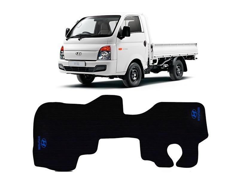 Tapete Caminhão Borracha Pvc Hyundai Hr 2008 Ate 20 Com Logo Antiderrapante Impermeável Preto 1 Peça