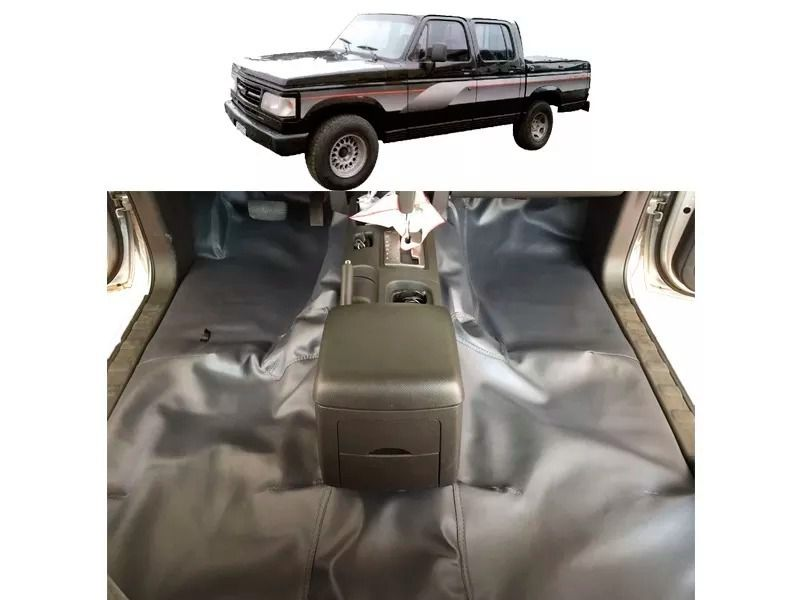 Tapete automotivo chevrolet D20 Cabine Dupla emborrachado ate 92