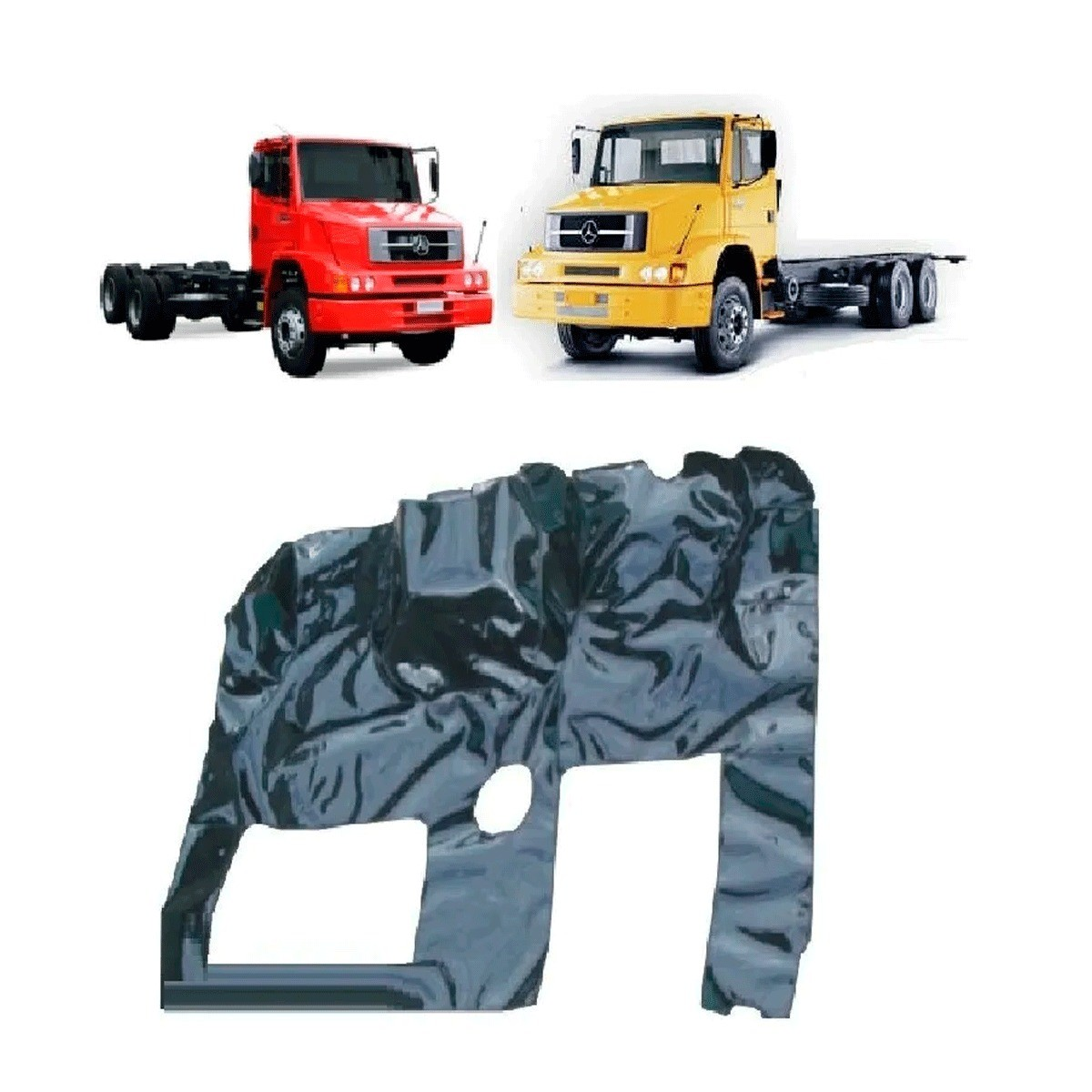 Tapete Carpete Assoalho Vinil Verniz Caminhão Mercedes 1620 até 2011 Grafite