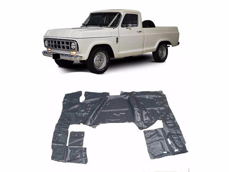 Tapete Carpete Assoalho Vinil Verniz Chevrolet D10 Cabine Simples