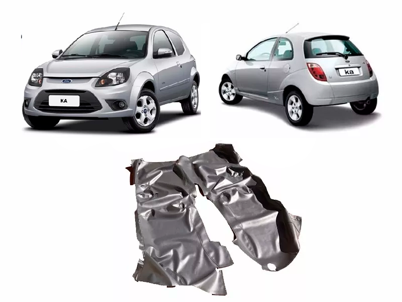 Tapete Carpete Assoalho Vinil Verniz Para Ford Ká até 2013