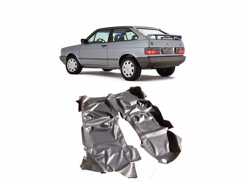 Tapete Carpete Assoalho Vinil Verniz Volkswagen Gol Quadrado Preto