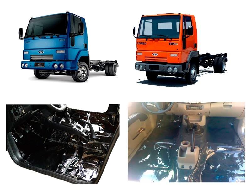 Tapete Carpete Vinil Verniz Assoalho Ford Cargo 815 Até 2010 Grafite