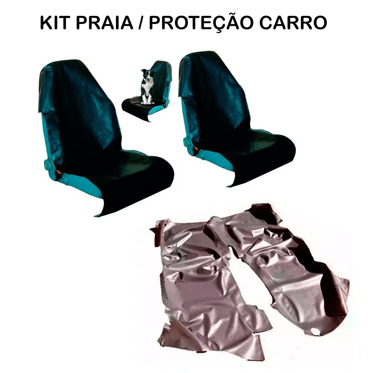 Tapete Em Vinil Chevrolet Montana Todos + Capa Banco Protecao Banco Areia Suor Academia