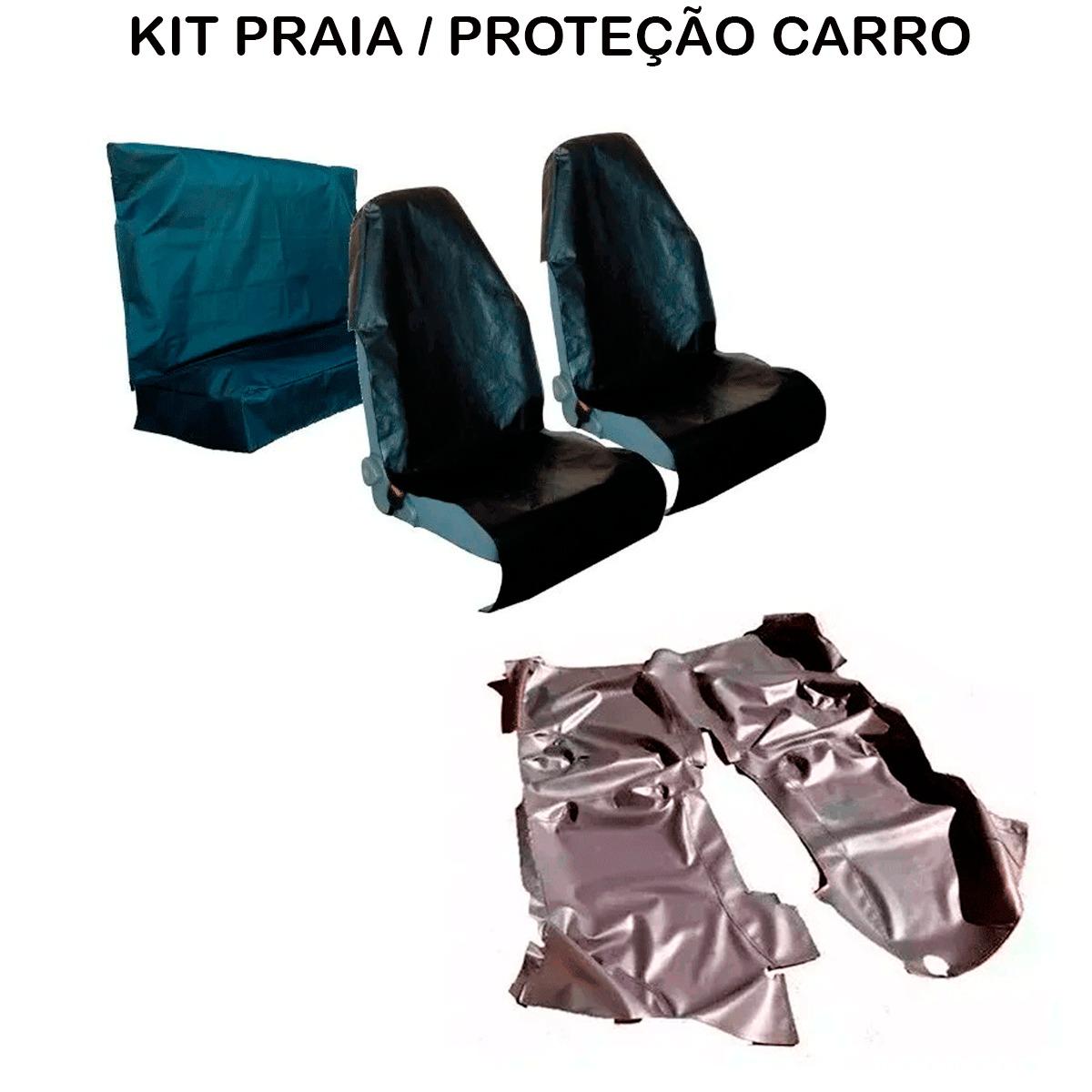 Tapete Em Vinil Volkswagen Saveiro Dupla + Capa Banco Protecao Banco Areia Suor Academia
