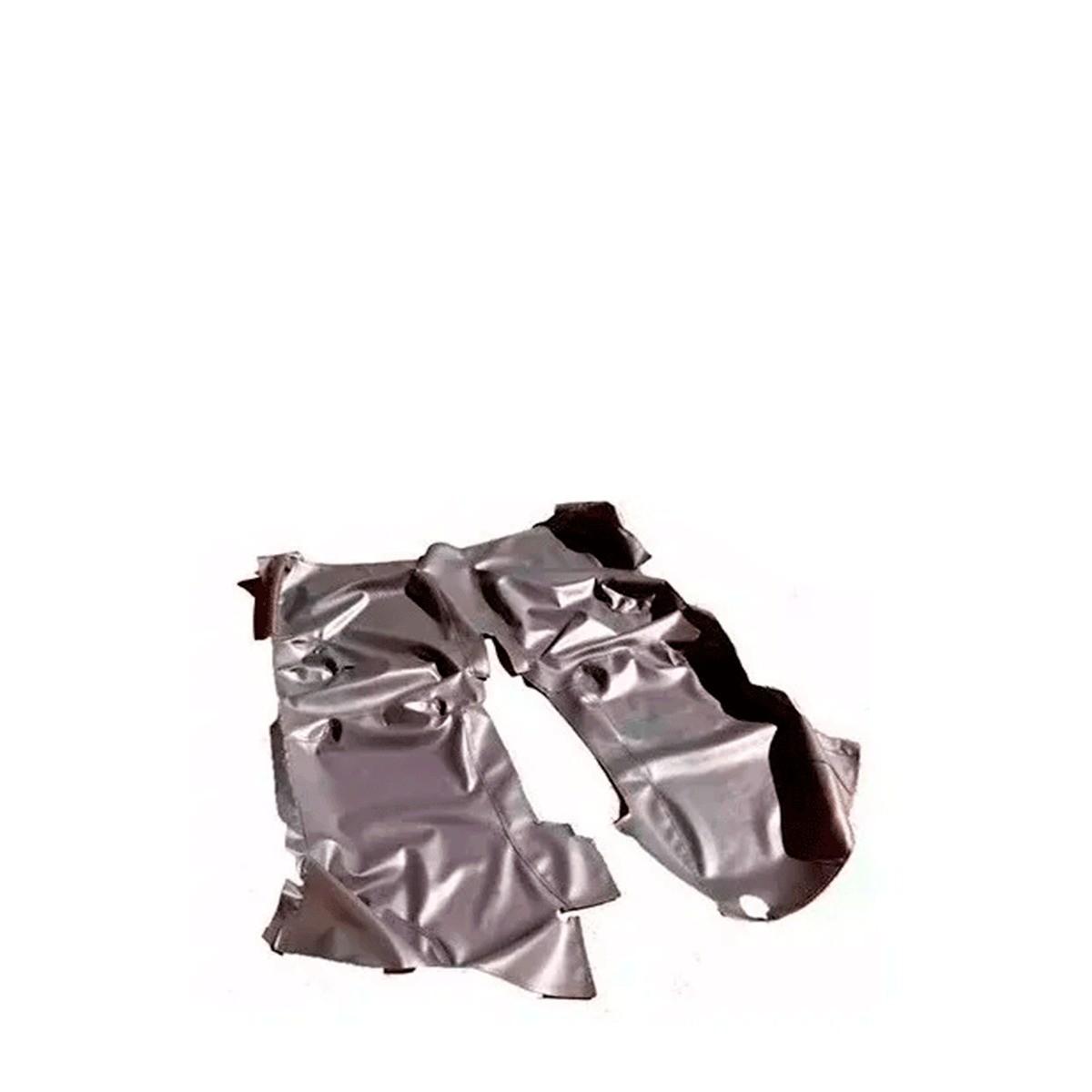Tapete Forração Protetora Para Assoalho da Amarok Dupla em Vinil Verniz Impermeável
