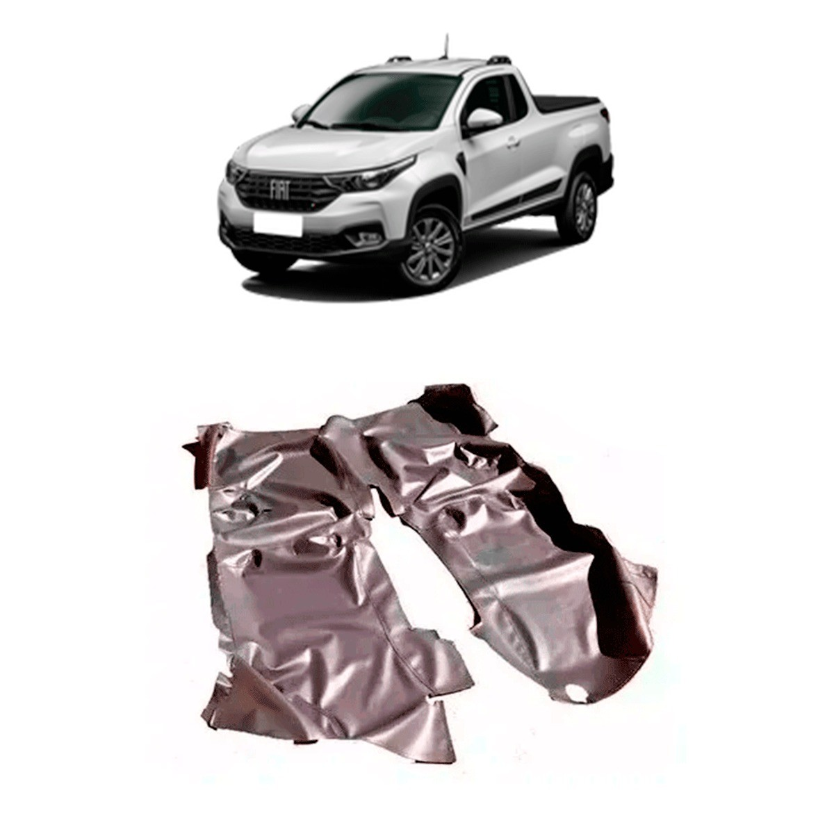 TAPETE VERNIZ AUTOMOTIVO FIAT STRADA 2020 NOVA SIMPLES PRETO