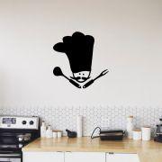 Adesivo de Parede Chef Cozinha