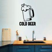 Adesivo de Parede Cold Beer - Cerveja Gelada