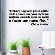 Adesivo de Parede Frase Chico Xavier