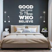 Adesivo de Parede Frase Good Things