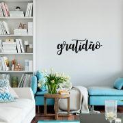 Adesivo de Parede Frase Gratidão Agradecer