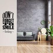 Adesivo de Parede Frase Motivacional Inglês Don´t Forget to Smile Today Decoração Sala