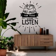 Adesivo de Parede Frase Motivacional Music