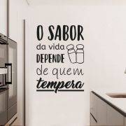 Adesivo de Parede Frase Cozinha Sabor da Vida