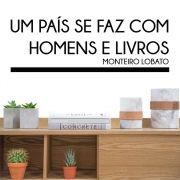 Adesivo de Parede Homens e Livros Monteiro Lobato