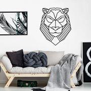 Adesivo de Parede Leão Geométrico