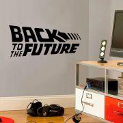 Adesivo de Parede Logo Back to The Future Preto