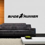 Adesivo de Parede Logo Blade Runner Preto
