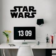 Adesivo de Parede Logo Star Wars Preto