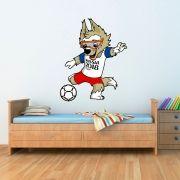 Adesivo de Parede Mascote da Copa da Rússia 2018