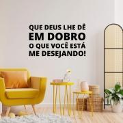 Adesivo de Parede Religioso Frase Que Deus Lhe Dê em Dobro Decoração Casa