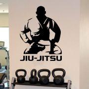 Adesivo de Parede Silhueta Jiu-Jitsu